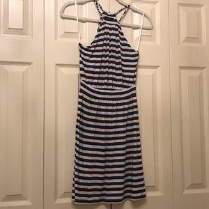 Tart red, white, blue mini dress